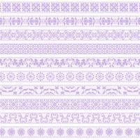 motifs de bordure de dentelle de lavande