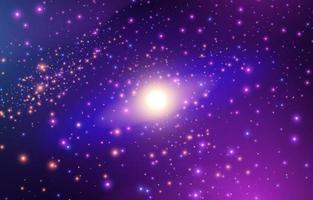 fond d'étoile galaxie réaliste vecteur