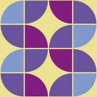 Motif de formes géométriques des années 70. vecteur moderne de style vintage du milieu du siècle