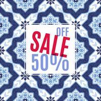 Design lumineux pour vos ventes, remises et promotions. Azulejos style portugal.