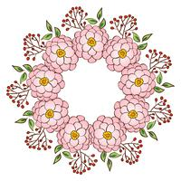 Cadre de guirlande, bordure d'ornement floral