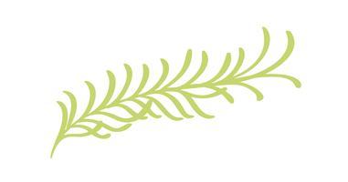 Icône d'herbes de fleurs vecteur plat abstraites plantes vertes