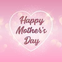 Fond de fête des mères avec coeur sur les lumières de bokeh