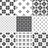 Ensemble de modèles universels sans soudure géométriques monochromes, carrelage. vecteur