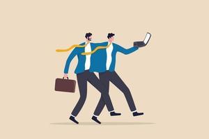 partage d'emploi dans le travail flexible, 2 employés ou plus partagent la réponse au travail vecteur