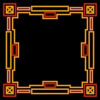 Cadre avec or géométrique vecteur