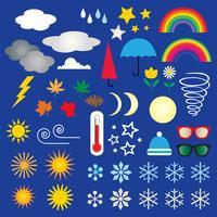 clipart icônes météo vecteur
