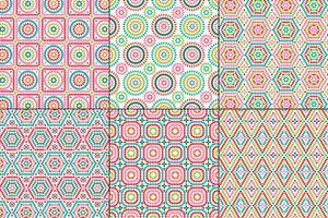 modèles carrés de mamie sur fond blanc vecteur