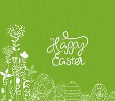 Oeuf de Pâques blanc abstrait sur fond vert