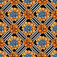 Tendance des motifs succulents et des rayures. vecteur