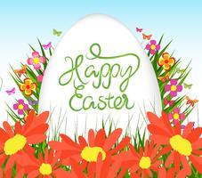 oeufs de Pâques verts et fond de lapin