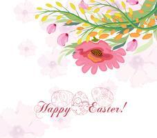 Fond de Pâques avec mignon lapin et oeuf