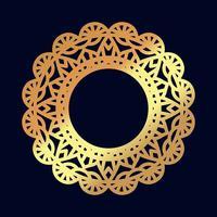 Mandalas en or. Méditation de mariage indien.