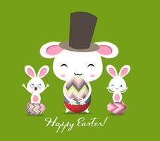 Carte de voeux de joyeuses Pâques