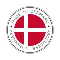 Fabriqué en icône de drapeau du Danemark.