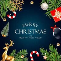fond de fête de vacances de noël. Bonne année et joyeux Noël vecteur