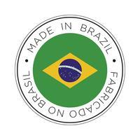 Fabriqué dans l'icône de drapeau du Brésil.