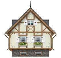 Maison à colombage classique vecteur