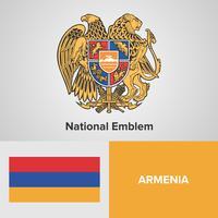 Emblème national, carte et drapeau