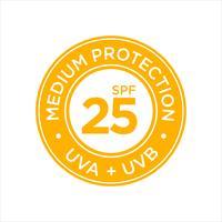 Protection UV, solaire, SPF 25 moyen vecteur