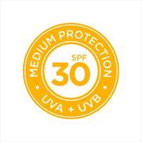 Protection UV, solaire, SPF 30 moyen vecteur