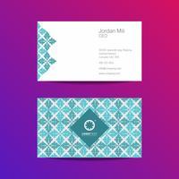 Modèle de conception de carte de visite professionnelle