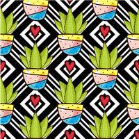Tendance des cactus vecteur