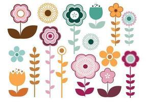 Pack élégant de vecteur fleur
