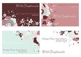 Carte postale Floral et Papeterie Vector Pack