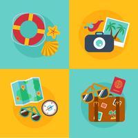 Concepts et bannières de voyage, été