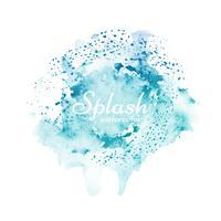 Vecteur de design splash aquarelle coloré élégant