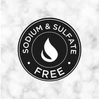 Sodium et sulfate Icône gratuite pour les étiquettes de shampooing, masque, revitalisant et autres produits capillaires. vecteur