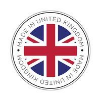 Fabriqué dans l'icône de drapeau du Royaume-Uni. vecteur