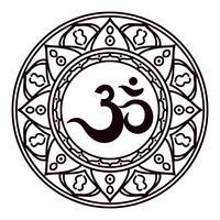 Son sacré indien Om ou Aum, mantra original, mot de pouvoir.