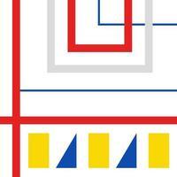 bauhaus géométrique rétro, suisse, couverture de memphis vecteur