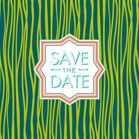 Enregistrez le style de date. Invitation de mariage. tendance couleur vert flash.
