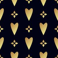 Motif or sans couture avec des coeurs. vecteur