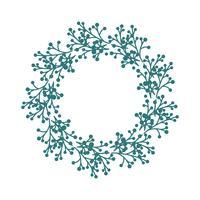 Cadre de guirlande, bordure d'ornement floral vecteur