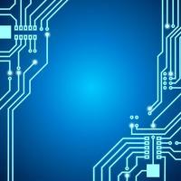 Circuit imprimé fond néon lumière