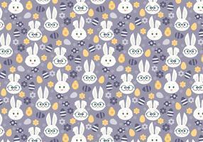 Modèle seamless Vector avec mignons lapins de Pâques