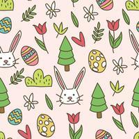 Papier peint Doodled Easter vecteur