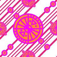 Motif géométrique sans couture avec carré vecteur