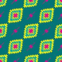 Modèle sans couture textile entrelacs folklorique mexicain
