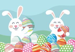 Vecteur de papier peint de Pâques