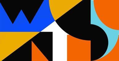 abstrait géométrique. bauhaus, memphis minimaliste. vecteur