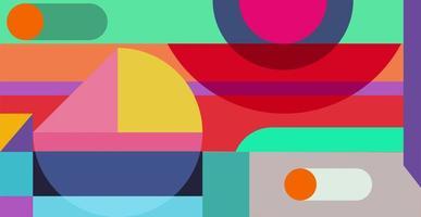 abstrait géométrique. bauhaus, graphique rétro minimaliste. vecteur