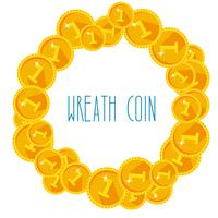 Ensemble de médailles d'or ou de sceaux. Toutes les pièces sont séparées et faciles à éditer.