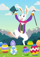 Papier peint mignon lapin de Pâques vecteur
