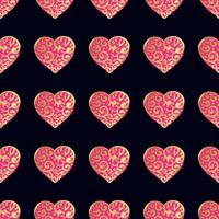 Motif or sans couture avec des coeurs.