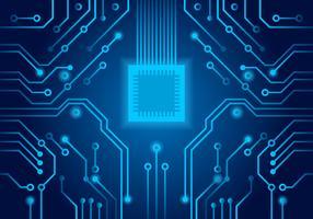 Vecteur de circuit imprimé bleu